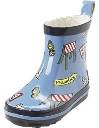 Playshoes Verkehrszeichen Alloverdruck 180361, Bottes de pluie mixte enfant