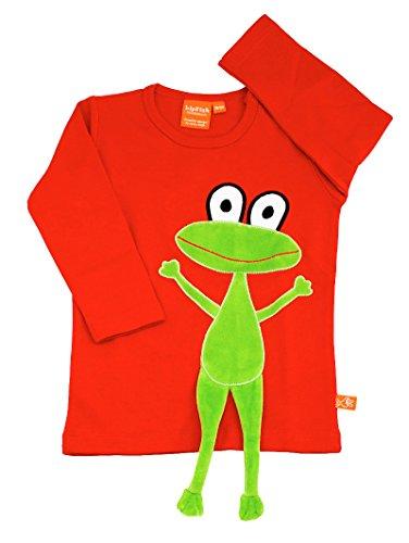 LipFish T-Shirt Frosch Rot Langarm, Groesse 104 (Langarm-shirt Frosch)