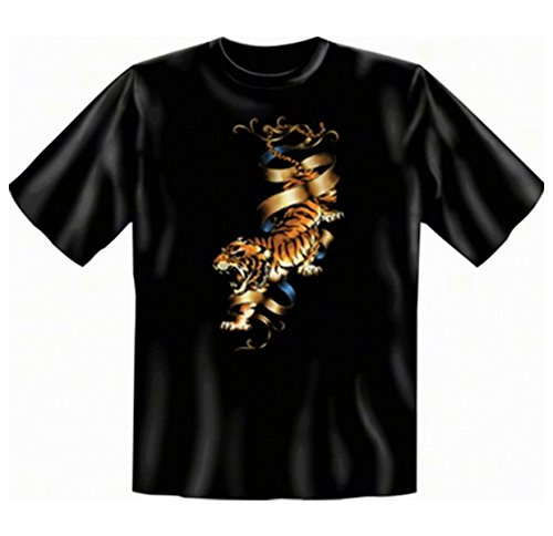 Biker T-shirt: Tiger Fb schwarz Größe S