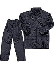 Malvina Boy|Girl's Rainsuits|Rain Jacket Trouser Suit|Rainwear Packable (Black, X-Large)