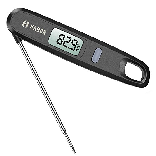 Preisvergleich Produktbild Digitales Habor-Fleisch-Thermometer / Küchenthermometer / Haushaltsthermometer / Kochthermometer / Ofenthermometer - mit magnetischer Befestigung - ° C/° F: umschaltbar - ideal für Küche, Grill und Süßigkeiten/Gebäck