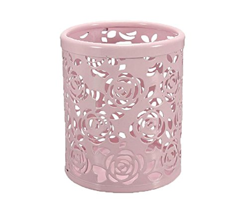 Cosanter Pack 2x Portalápices metálico diseño rosas