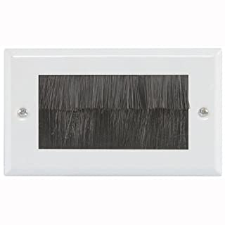 White Double Brush Wall Plate