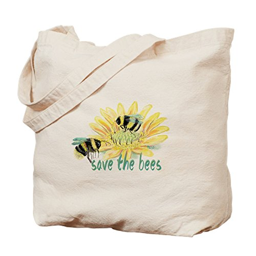 CafePress Save The Bees Tragetasche, canvas, khaki, M