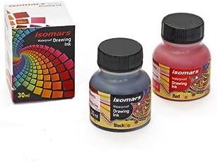 Isomars India Waterproof Drawing Ink Set of 10 - Colours