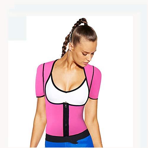 ZHANGZHIYUA Frauen Neopren Sauna Weste Body Shaper Sweat Anzug mit Ärmeln Spa Cami Hot Abnehmen Workout Top Gewichtsverlust,C,M