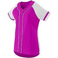 Augusta Sportswear Girls' Winner Softball Jersey L Power Pink/White