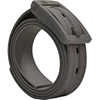PlugBelt Gris - Cinturon de golf para hombre, silicona, unitalla, biodegradable, resistente y libre de metales.