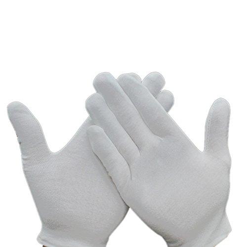 mylifeunit weiß Baumwolle Handschuhe, Arbeitshandschuhe für Schmuck Silber Inspektion und Kellner, 20Paar, weiß, HO17CQ051