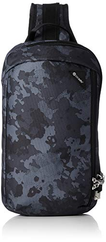 Pacsafe Vibe 325 - Anti-Diebstahl Cross-Body-Bag, Umhängetasche, Sling Bag, Grau Camo/Grey Camo 8 X 20 Camo