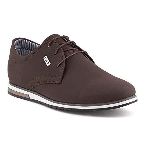 Business Casual Schuhe (Fusskleidung Herren Business Schnürer Casual Halb Sneaker Schuhe Anzugschuhe Dunkelbraun EU 40)