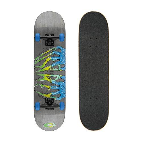 Osprey Complete Anfänger Double Kick Trick Skateboard, 78,7x 20,3cm Ahorn Deck Einheitsgröße Claws (Abec 7 Bike Bearing)