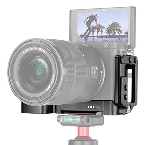 Vlog Vertical L Typ Bracket Plate für Sony A6400 Griffhalterung Arca-Kamera mit Schnellkupplung aus Metall mit Mikrofon -