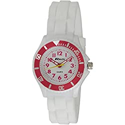 Ravel Children's Easy Read Quartz Watch with White Dial Analogue Display and White Silicone Strap R1802.4