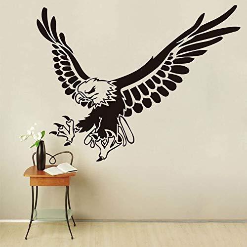 tzxdbh Adler Fliegen Tier Wandaufkleber Für Kinderzimmer Wand-dekor Abnehmbare Vinyl Wandkunst Aufkleber Dekoration Zubehör 44 * 57 cm - Adler-raum-dekor