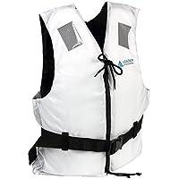 Leader Accessories Chaleco de Ayuda a la Flotabilidad Salvavidas CE ISO 12402 Ajuste Fácil Cinturón Ajustable Unisex Adulto Blanco S: 30-50kg