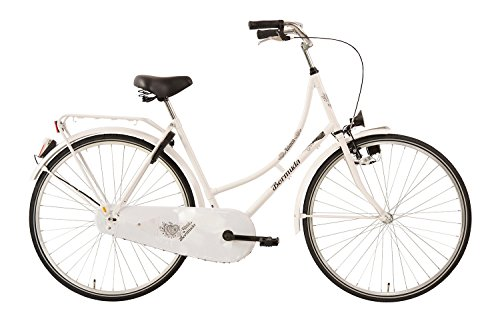 Hollandrad 28'' Bermuda Valencia in weiss Stadtrad Damen Holland Fahrrad Citybike Beleuchtung Gepäckträger Rücktrittbremse