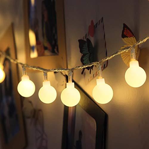LOFTer 120 LED Lichterkette 15M Lichterkette Außen Strombetrieben Lichterkette Warmweiß 8 Modis Deko Innen Outdoor Lichterkette für Garten Party Weihnachten, IP44 Wasserdicht