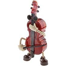 Juguete Musical Ornamento Caja de Música Violonchelo Chico Columpio de Cuerda Mesa Regalo Cabritos