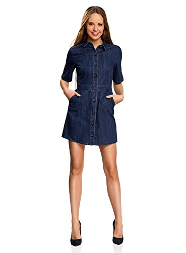 oodji Ultra Women's Buttoned Denim Dress