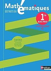 Mathématiques 1re Pro Bac Pro