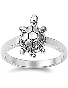 Ring aus Sterlingsilber - Schildkröte