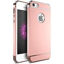 iMounTop Carcasa iPhone SE / iPhone 5s Carcasa / iPhone 5 Funda , 3-en-1 la Tecnología de Enchapado Protector Anti-Arañazos Funda Carcasa Case para iPhone SE / 5s / 5 (Oro Rosa)