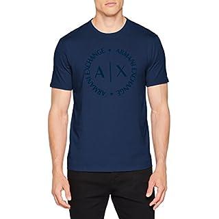 Armani Exchange Men's 8nztcd T-Shirt, Blue (Sargasso Sea 1556), Medium