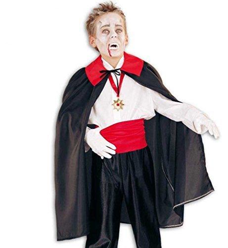 Kinderkostüme, Vampirkostüme, Vampir-Umhang, Cape für Kinder in schwarz (104) (Kleinkind Haloween Kostüme)