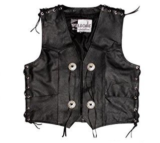Preisvergleich Produktbild Protectwear Motorrad - Lederweste - Kutte, Black , Größe 56