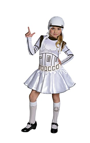 Wars Standard Star Stormtrooper Kostüm Kinder - Rubies offizielles Disney Star Wars Stormtrooper-Kinder Kostümfür Mädchen, Größe L, Alter 8 - 10