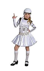Rubies - Disfraz infantil de soldado imperial para niñas, diseño oficial de Star Wars de Disney, talla L de 8 a 10 años