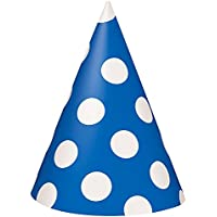 Polka Dot Party Hats, Pack of 8