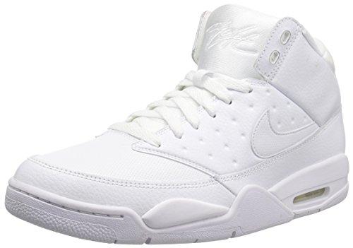 Nike Herren Air Flight Classic Basketballschuhe, Weiß (White/White-White), 43 EU (Air Max Herren 2014 Weiß Nike)