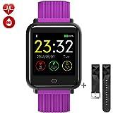 Tagobee TB08 IP67 Wasserdichte SmartWatch HD Bunte Bildschirm Fitness Tracker Unterstützung Blutdruckmessgerät Benachrichtigungen Erinnern Aktivität Tracker Kompatibel Mit iPhone und Android (Lila)