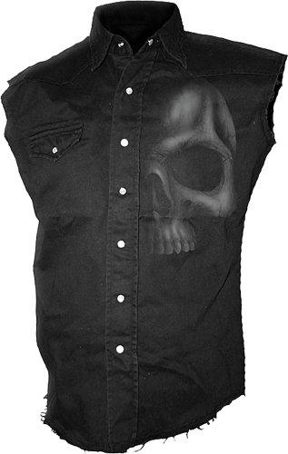 Spiral Shadow Skull Camicia senza maniche nero XXL