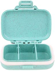 P PRETTYIA Mini Pillendose Pillenbox Tablettenbox Pille Box - Blau