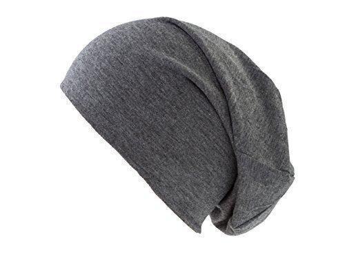 4b23518a464082 Dunkelgraue Jersey Beanie Mütze für Herren und Damen. Jersey Beanies lang  long und dünn ...