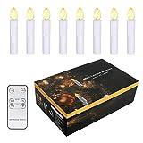 Sunjas 10 er Weinachten LED Kerzen Weihnachtsbeleuchtung, mit Fernbedienung kabellos, Lichterkette Weihnachtskerzen 3 Lichtmodifikationen, für Weihnachten, Weihnachtsbaum(10er)
