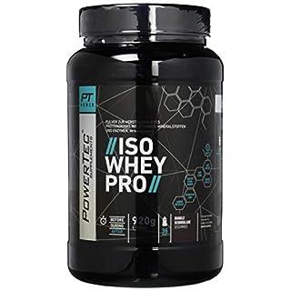 POWERTEC SUPPLEMENTS ISO Whey Pro Wheyprotein - Pulver mit Vitaminen und niedrigem Kohlenhydratanteil für Muskelaufbau und erhalt (Dunkle Schokolade), 920 g