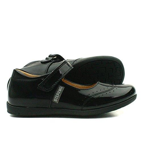 HALEY Step2wo School Shoe Cross Strap for Girls >      > Chaussures de l'école avec bracelet croix pour les filles Black Pat (noir)