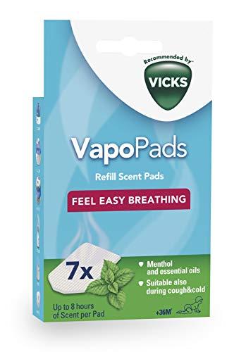 Vicks Vapo Pads Duftpad für Verdampfer, Menthol-Duft, 7er-Pack -