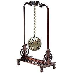 Refoulement Xiangtai Creux Aromatherapy Ball Famen Temple Sachet Balle Suspendu Aromatherapy Ball Bois De Bois De Santal Poêle