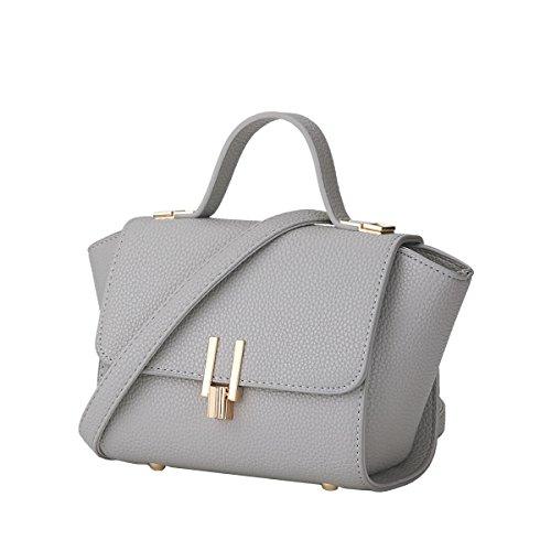 DISSA S826 neuer Stil PU Leder Deman 2018 Mode Schultertaschen handtaschen Henkeltaschen,280×120×170(mm) Grau