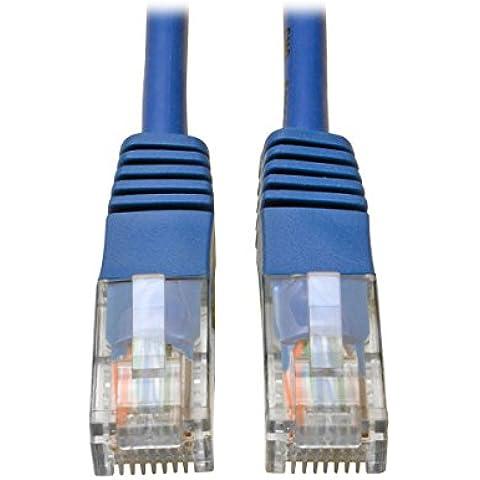 Tripp Lite Cable Patch Moldeado Cat5e de 350MHz (RJ45 M/M) - Azul, 2.13 m [7 pies] - Cable de red (2.13 m [7 pies], RJ-45, RJ-45, Macho/Macho, 10/100/1000Base-T(X), Cat5e, U/UTP