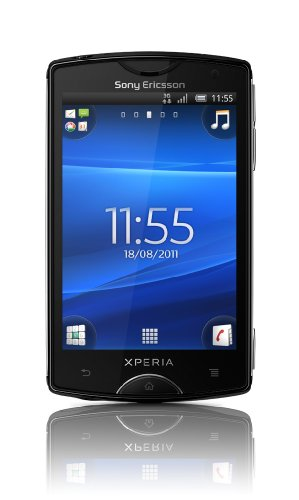 Sony Sony Ericsson Xperia mini Smartphone (7,6 cm (3 Zoll) Display, Touchscreen, 5 MP Kamera, Android 2.3 OS) schwarz