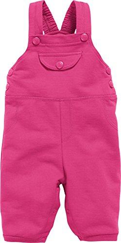 Schnizler Unisex Baby Sweat-Latzhose, Babyhose, Oeko-Tex Standard 100, Rosa (Pink 18), 80