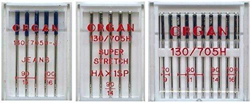 Organ Nähmaschinen-Nadel-Set für W6 Wertarbeit Nähmaschinen