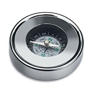 Personalised Silver metal travel Compass in Tin Engraved Free