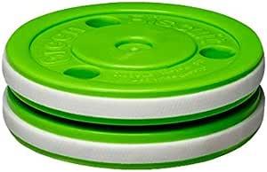 Hockey Puck Asphalt Eishockey Green Biscuit PASS Trainingspuck f